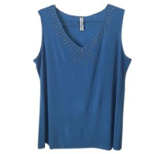 Tops - Peacock Shell with Embellished Neckline
